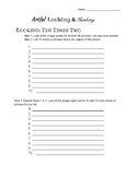 Artful Looking and Thinking Worksheet