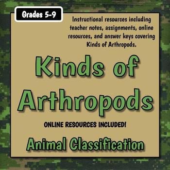 Arthropod Classes Teacher Notes & Assignment