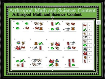 Arthropod Math and Science Content