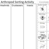 Arthropod Sorting Activity