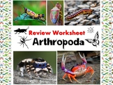 Arthropod (insects-arachnids-crustaceans) Review Worksheet