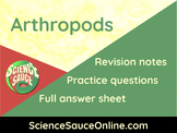 Arthropods - Revision handout and practice questions