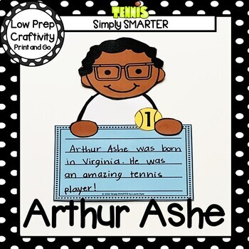Arthur Ashe Writing Cut and Paste Craftivity