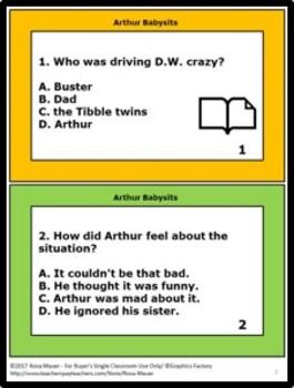 Arthur Babysits Book Unit