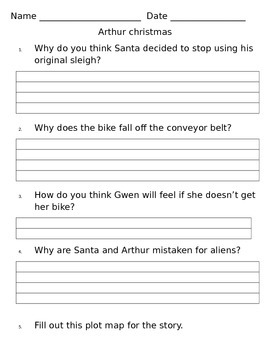 Arthur Christmas Movie Questions