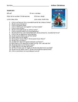 Arthur Christmas Spanish Movie Guide