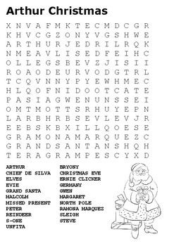 Arthur Christmas Word Search