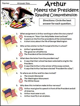 President's Day & Inauguration Reading Activities: Arthur Meets the President