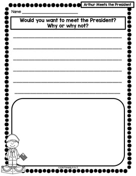 Arthur Meets the President {Comprehension Printables & CRAFTIVITY!}