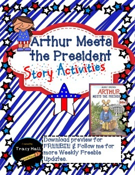 Arthur Meets the President Story Common Core Activities-freebie in preview