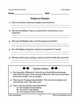 Arthur Meighen Lesson Plan Grades 4-8