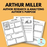 Arthur Miller - Author Study Worksheet, Author's Purpose,