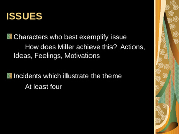Arthur Miller - Death of a Salesman Themes and Ideas POWERPOINT
