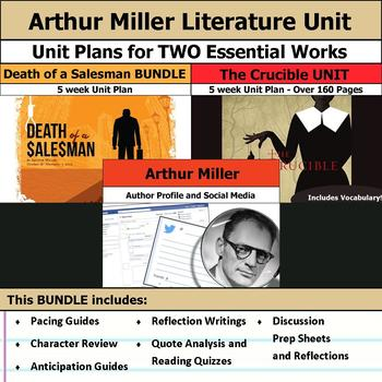 Arthur Miller Literature Unit - The Crucible and Death of a Salesman