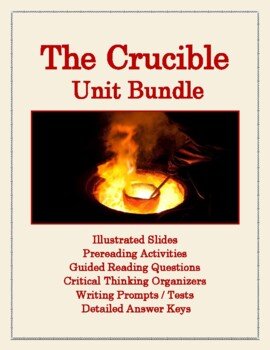 Complete Unit for The Crucible: Background, Questions, Prompts, Organizers, Test