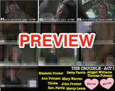 Arthur Miller's The Crucible - ACT I SMART Board Character Reference Visual