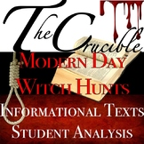 Arthur Miller's The Crucible: Modern Day Witch Hunt with Informational Texts