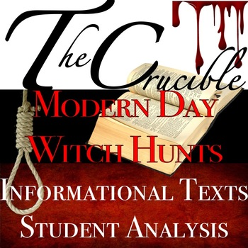 Arthur Miller's The Crucible: Modern Day Witch Hunt with I