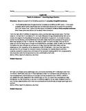 Arthur Miller's Death of a Salesman--Stage Direction Worksheet