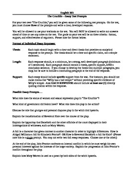 Essay On Library In English Arthur Millers The Crucibleessay Test Prompts An Essay On Newspaper also Argumentative Essay Thesis Examples Arthur Millers The Crucibleessay Test Prompts By Adam Kershaw Political Science Essay