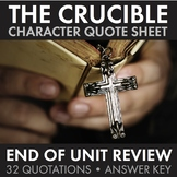 Crucible, Arthur Miller, Quote Race Review – Great End-of-Unit Game