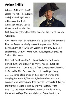 Arthur Phillip and the First Fleet Handout