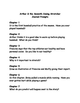 Arthur and the Seventh Inning Stretcher comprehension questions