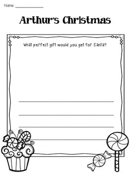 Arthur's Christmas Response to Reading Sheet