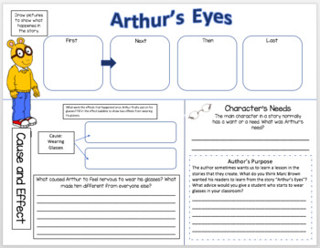 Arthur's Eyes - Reading Comprehension, Vocabulary Companion - 2nd and 3rd Grade