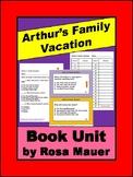 Arthur's Family Vacation Book Unit