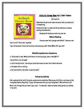 Arthur's Honey Bear for Guided Reading