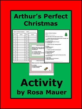 Arthurs Perfect Christmas.Arthur S Perfect Christmas Reading Comprehension