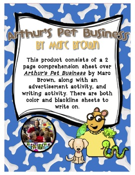 Arthur's Pet Business by Marc Brown