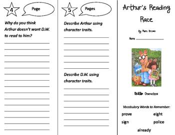 Arthur's Reading Race Trifold - Storytown 2nd Grade Unit 1 Week 1