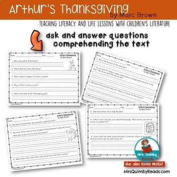 Arthur's Thanksgiving | Book Companion | Marc Brown | Reader Response