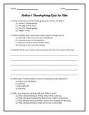 Arthur's Thanksgiving Quiz for Kids