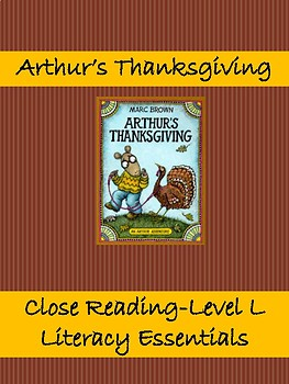 Arthur's Thanksgiving Read and Think Aloud
