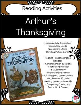 Arthur's Thanksgiving Unit