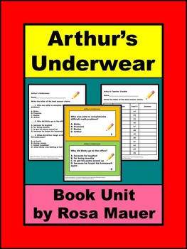 Arthur's Underwear Literacy Unit