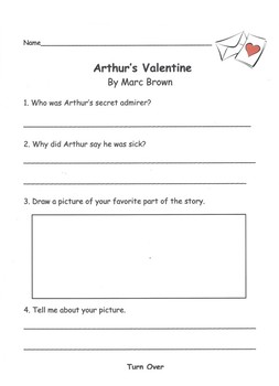 Arthur's Valentine by Marc Brown