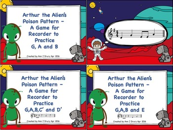 Arthur the Alien's Poison Pattern - A Bundle of 5 Games to Practice Recorder