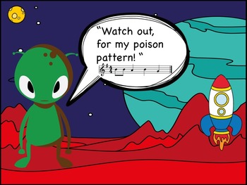 Arthur the Alien's Poison Pattern - A Game for Recorder to Practice G,A and B