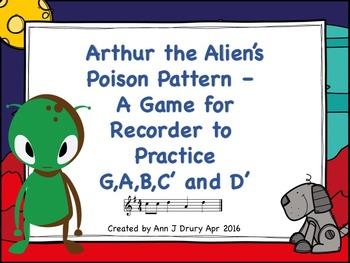 Arthur the Alien's Poison Pattern - A Recorder Game to Pra
