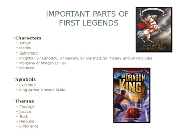 Arthurian Legend Book Comparison PowerPoint