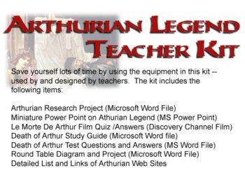 Arthurian Legend Teacher Kit Lesson Plan Test