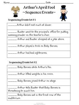 Arthur's April Fool Book Unit