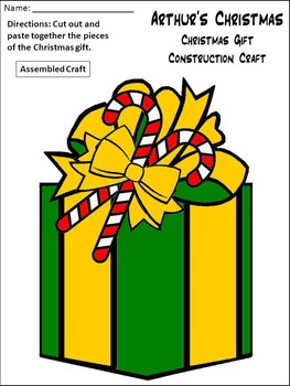 Christmas Reading Activities: Arthur's Christmas Activity Packet - Color