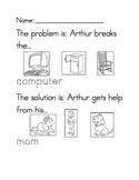 Arthur's Computer Disaster problem/solution worksheet