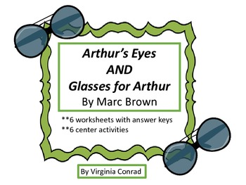 Arthur's Eyes and Glasses for D.W. (M. Brown) worksheets & center activities