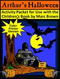 Halloween Reading Activities: Arthur's Halloween Activity Packet